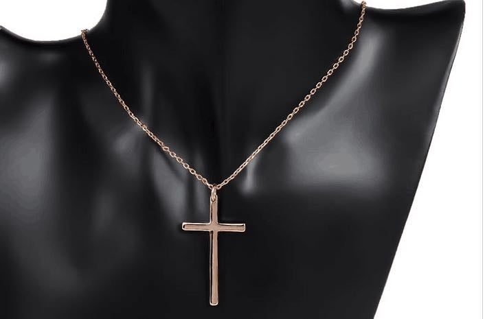 Image of Cross my heart (rose gold plated) from Don Benjamin