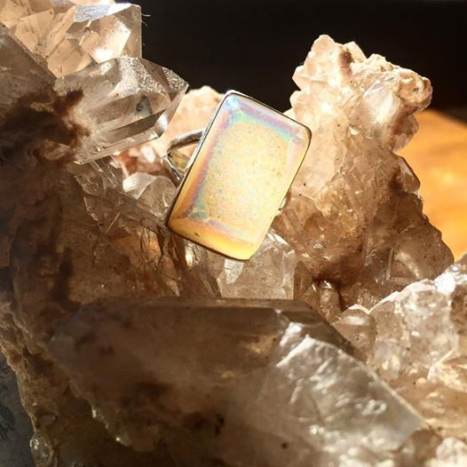 Image of Communicate with High Self ~Angel Aura Druzy Quartz
