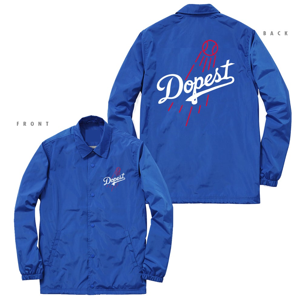 Image of DOPEST DODGERS INSPIRED COACHES JACKET - ROYAL