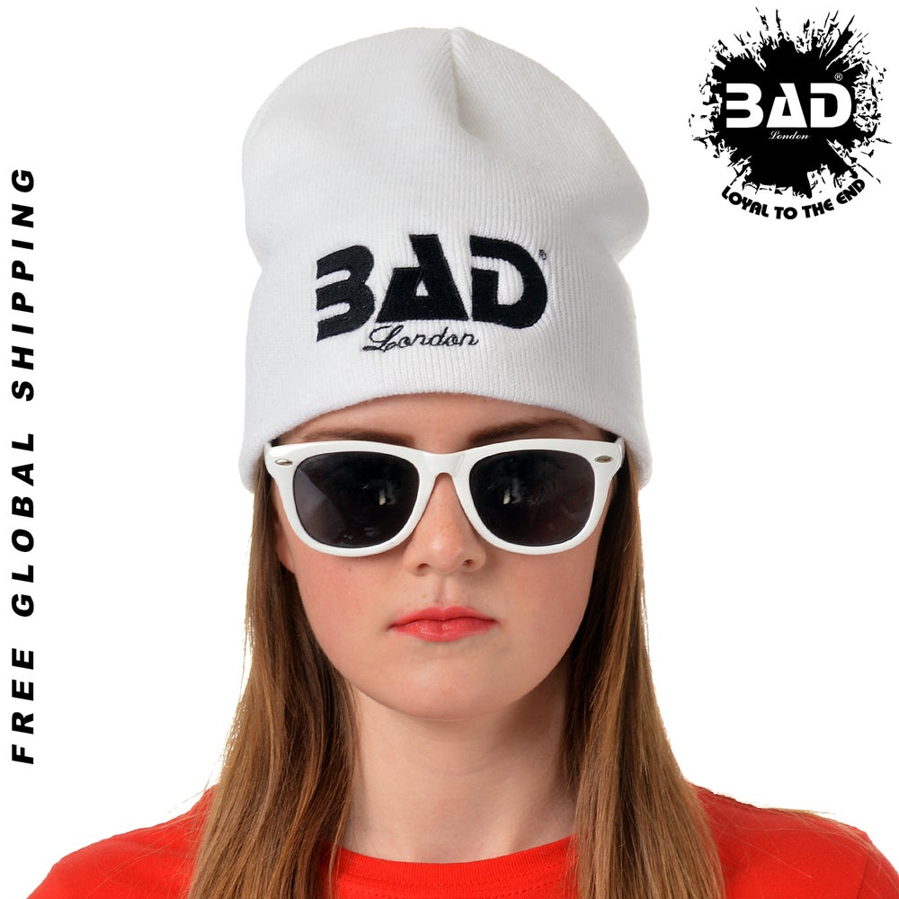 Image of Premium Unisex Beanie Hat by Bad Clothing London Designer Urban Street Wear and Fitness Fashion