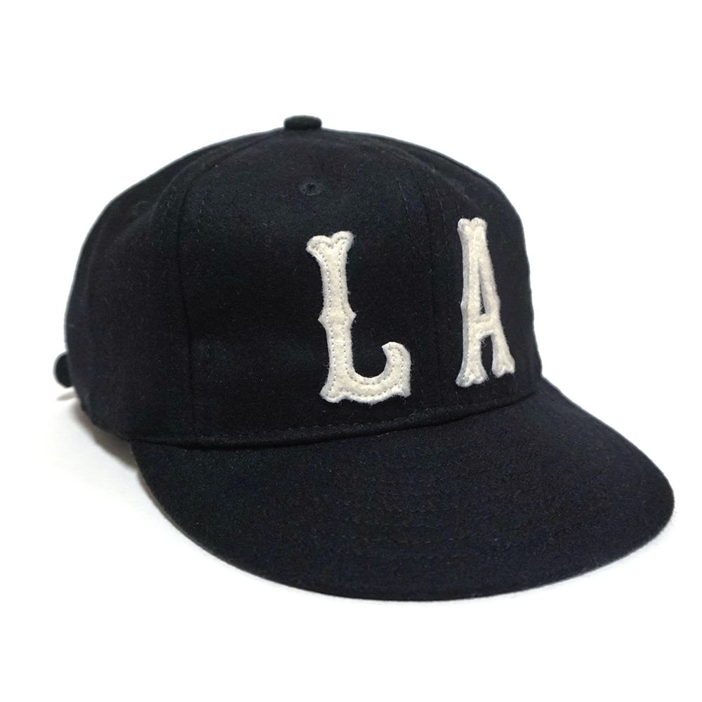 "Image of Opponent x Ebbets Field Flannels - ""LA"" Cap [blk]"
