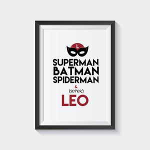 Image of Lámina Superboy Personalizada