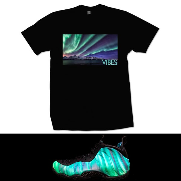 Image of VIBES NORTHERN LIGHTS FOAMPOSITE T SHIRT - BLACK