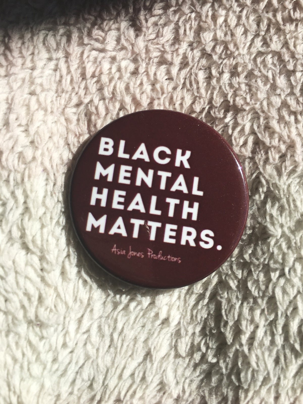 Image of Black Mental Matters Pin: Maroon