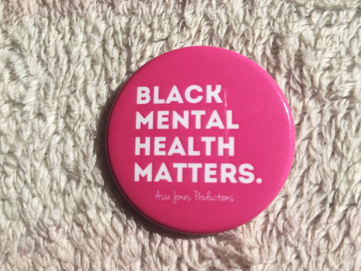 Image of Black Mental Health Matters Pin: Hot Pink