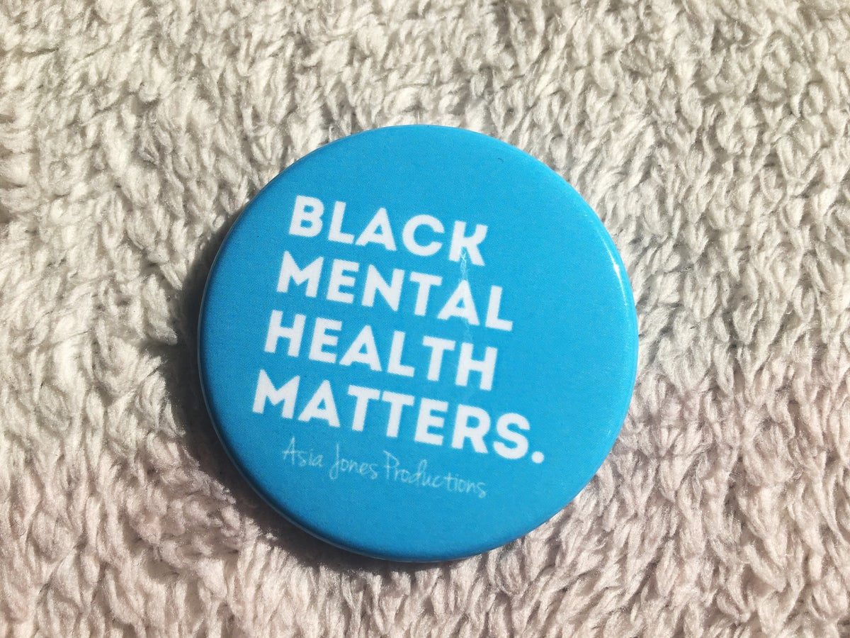 Image of Black Mental Health Matters Pin: Sky Blue