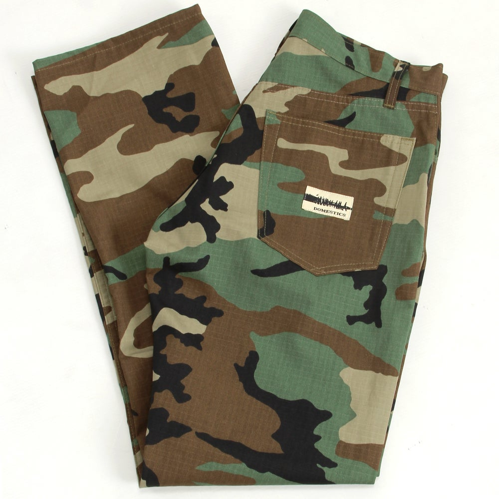 Image of MADE IN USA DOMEstics. Camo Ribstop Pants