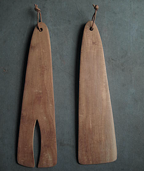 Image of GINKO SALAD SERVERS - LARGE AND SMALL