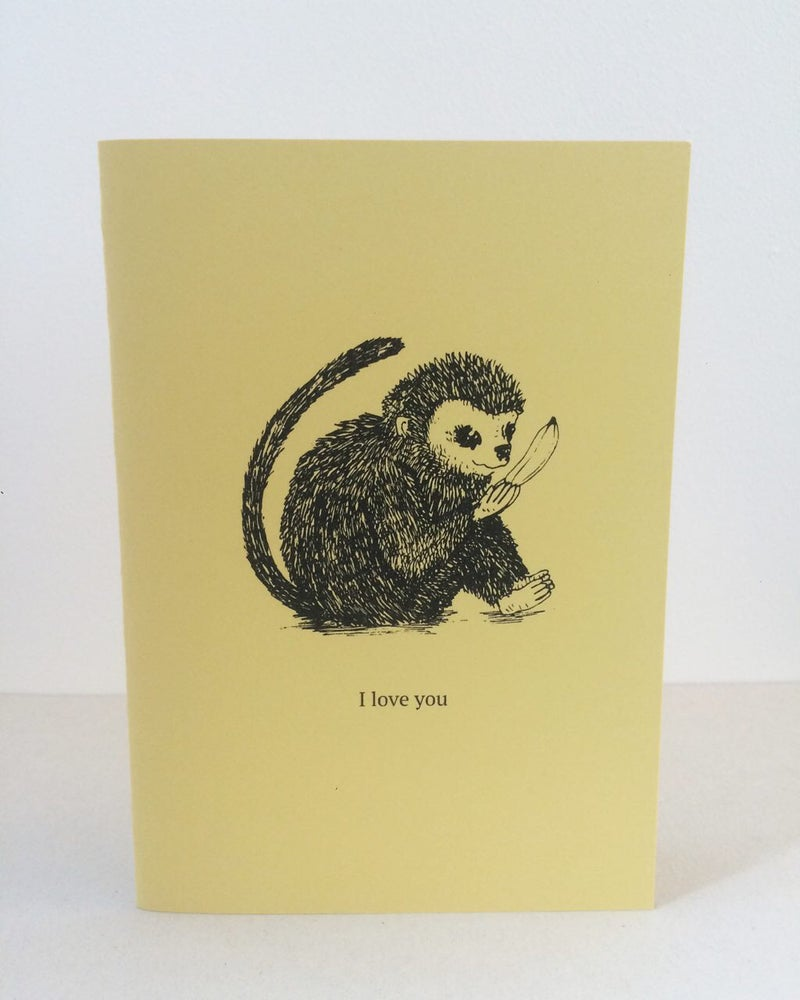 Image of Monkey Love Valentine's card by fingsMCR