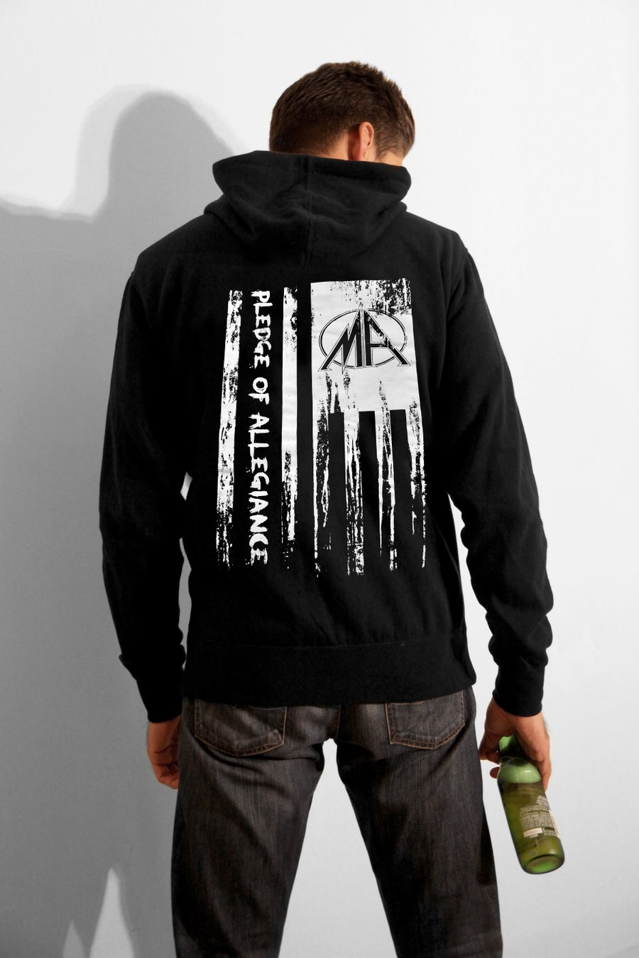 Image of Pledge of Allegiance Zip-up Hoodie