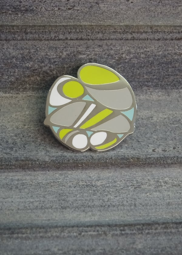 Image of Pebble pin badge