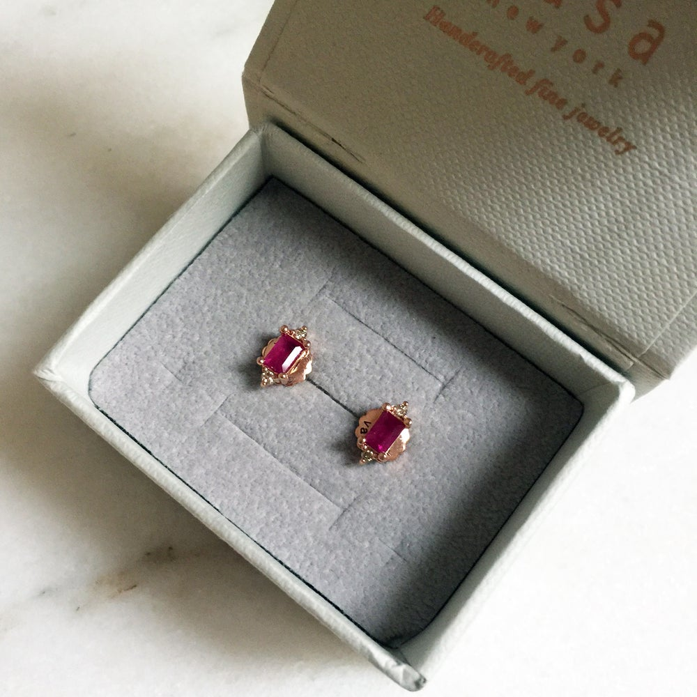 Image of Eleanor Ruby Earring
