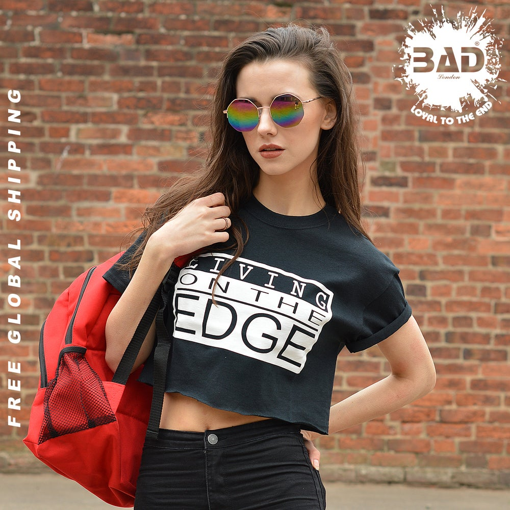Image of Premium Cropped T shirt by living on the Edge URBAN DESIGNER STREET WEAR AND FITNESS fashion
