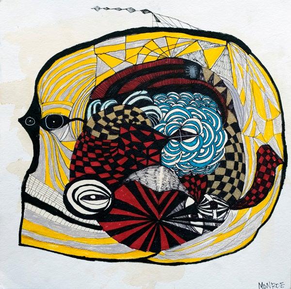 Image of Fine art Print - Melissa Monroe - abstract fish head