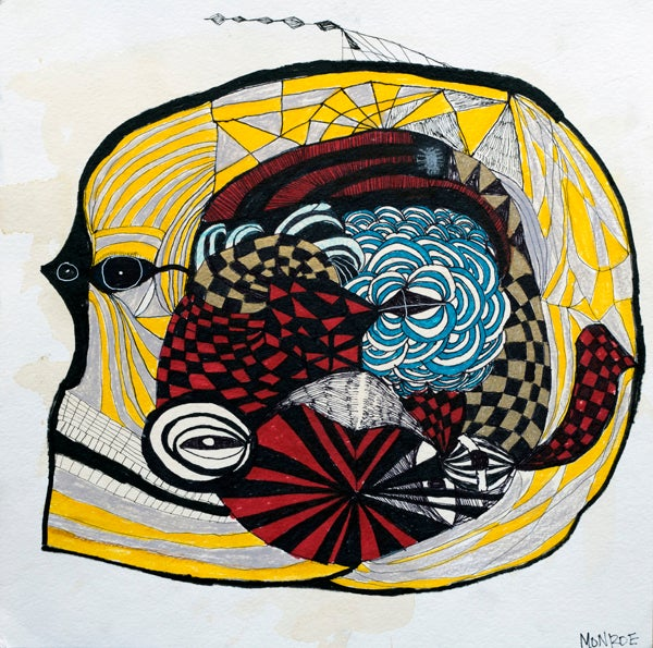 Image of Fine art Print - Melissa Monroe - abstract fish head