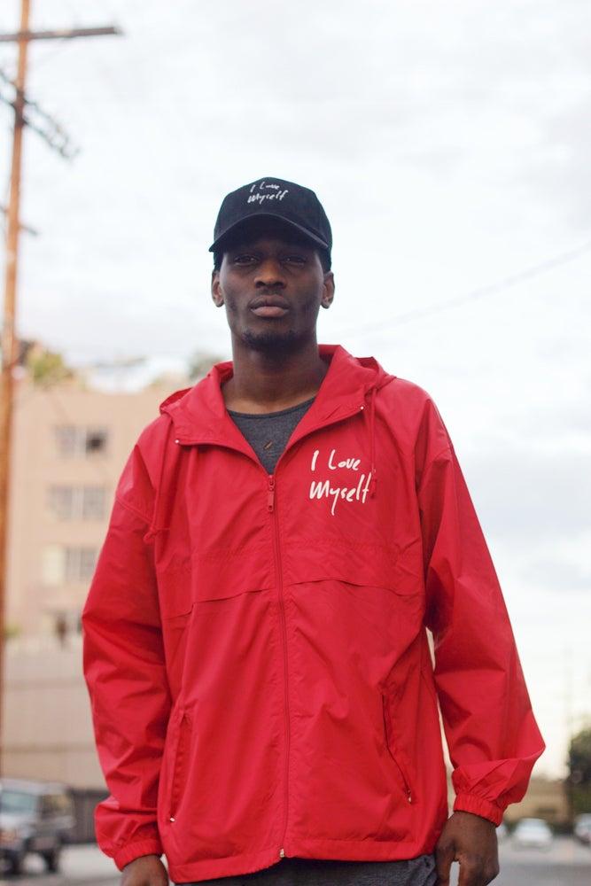 Image of Red I Love Myself Windbreaker