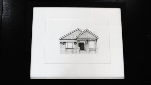Image of House 2 - A3 Original (Framed)