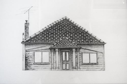 Image of House 1 - A3 Original (Framed)