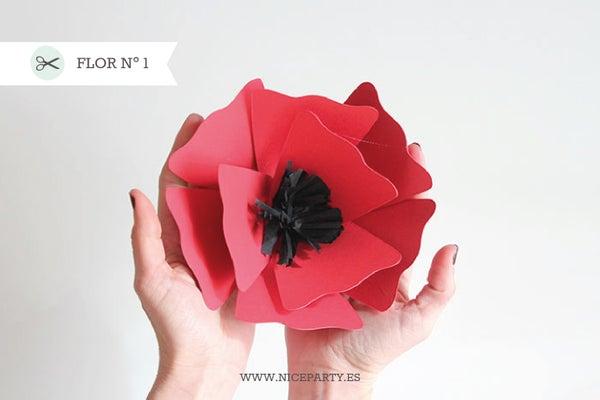 Image of Plantilla flor Nº1  y rama + Guía paso a paso