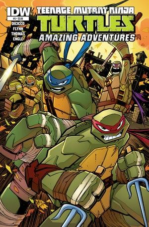 Image of ORIGINAL ART TMNT Amazing Adventures COVER 5