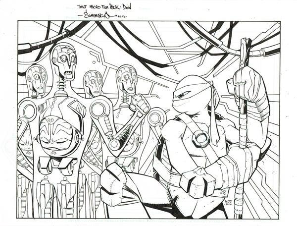 Image of ORIGINAL ART TMNT Fun Pack Cover Art :: Donatello
