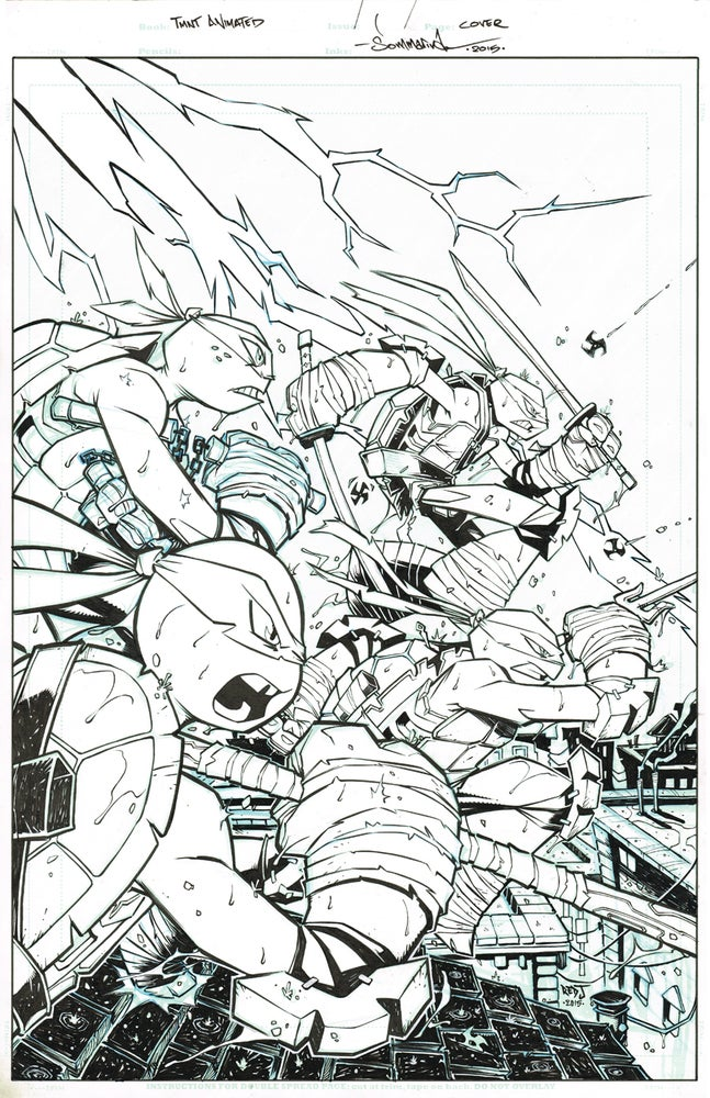 Image of ORIGINAL ART TMNT Amazing Adventures COVER 2