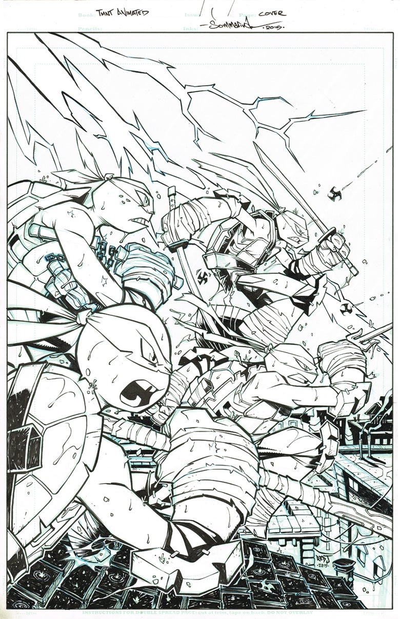 Image of ORIGINAL ART TMNT Amazing Adventures COVER 2