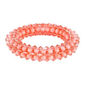 Image of Pink Coral Rope Bracelet