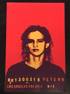 Image of *On Sale* Red Mugshot Poster (not signed)