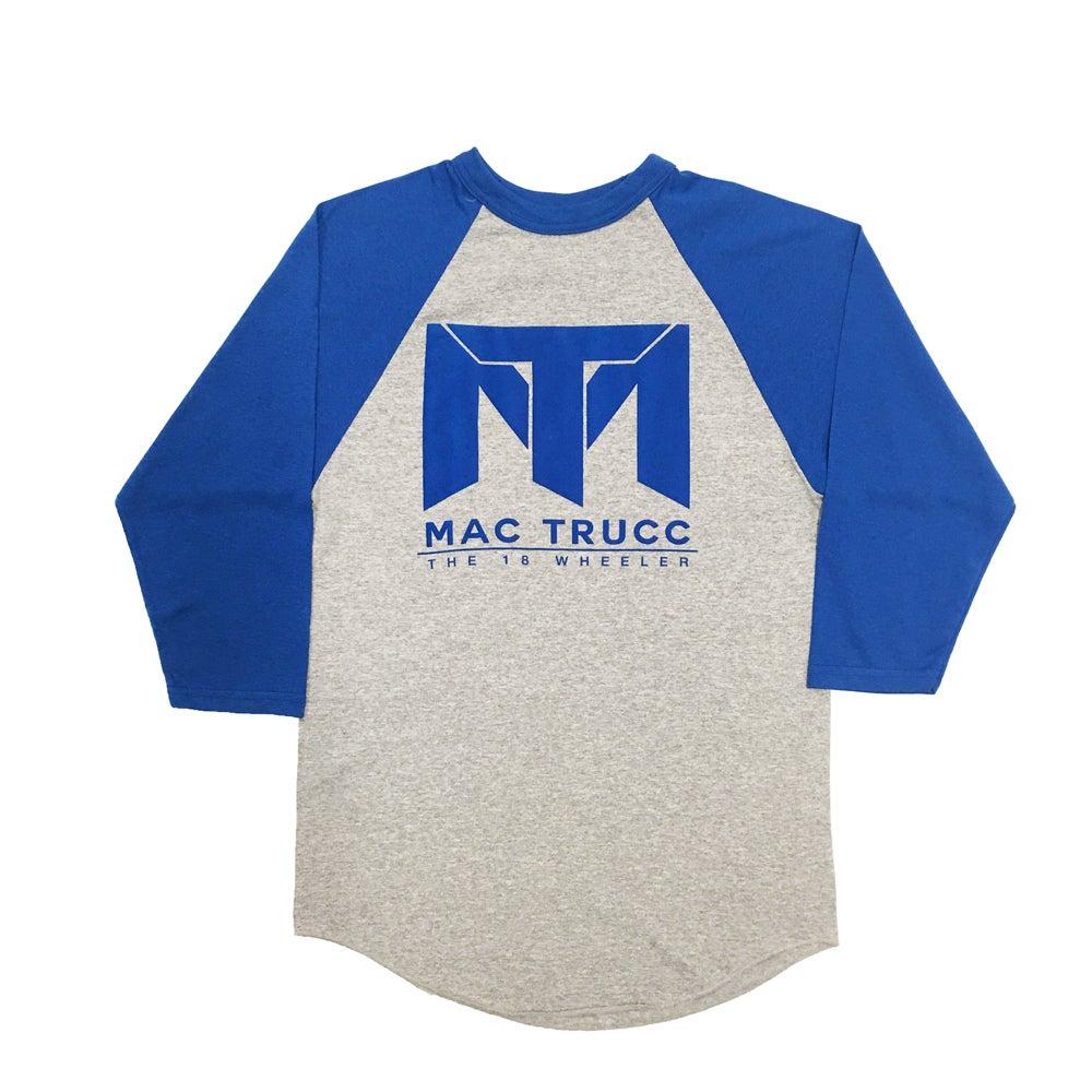 Image of MT Logo Baseball T (Heather Gray/Royal Blue)