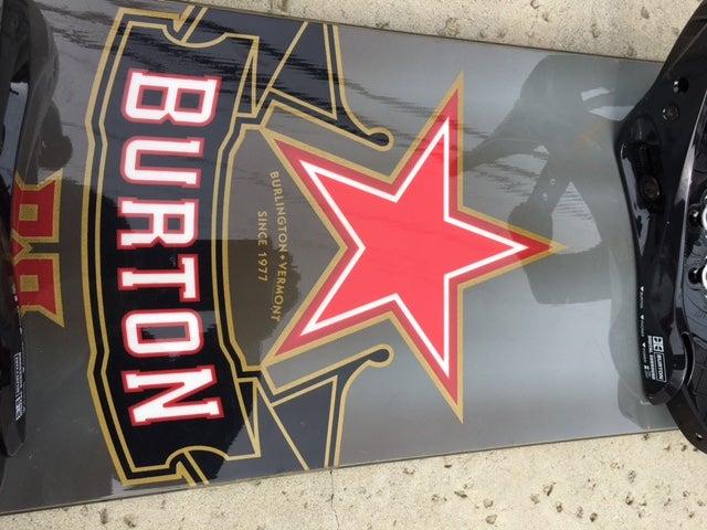 Image of Big Burton KING 167 Snowboard with Burton Custom bindings