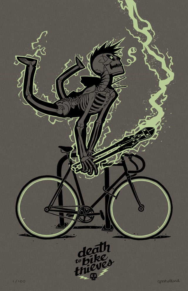 Image of DEATH TO BIKE THIEVES (NEW MINT/CHARCOAL VARIANT)