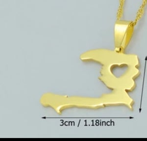 Image of Haiti Map Neckalce