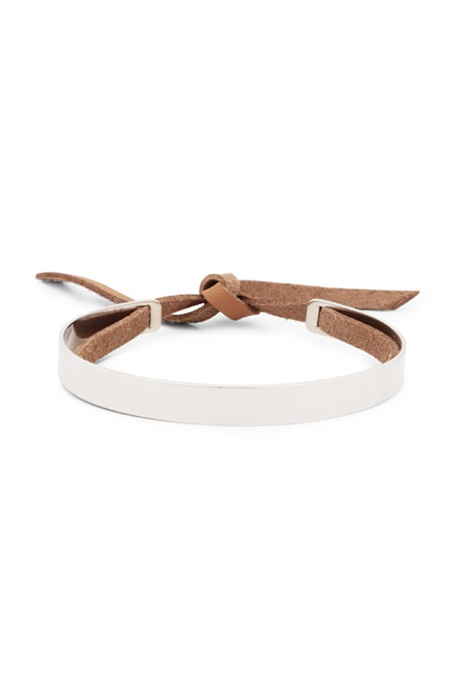 Image of STRIPE SKINNY  Bracelet with Leather Band