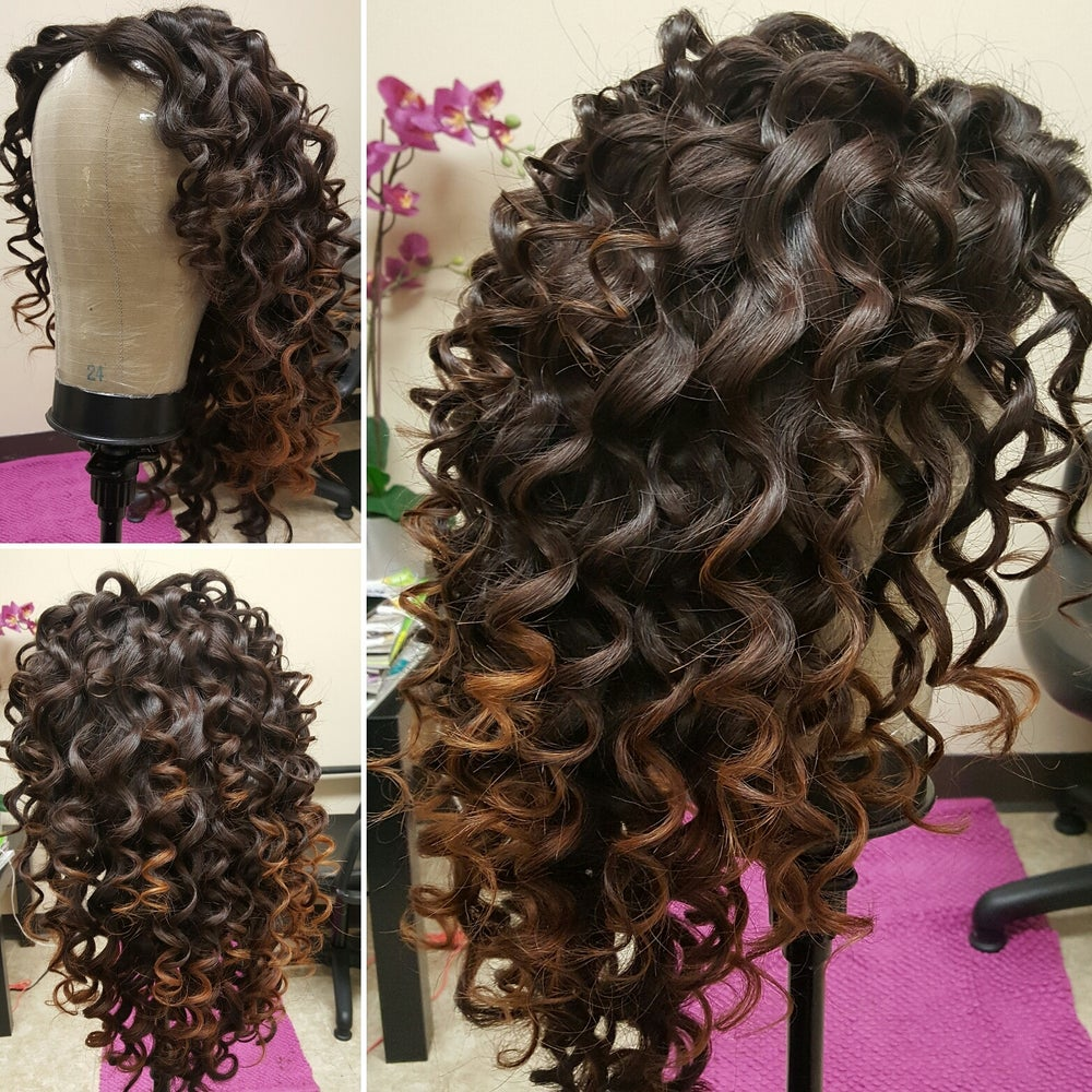 Image of Custom Unit Frontal/Styling/Cutting/Coloring