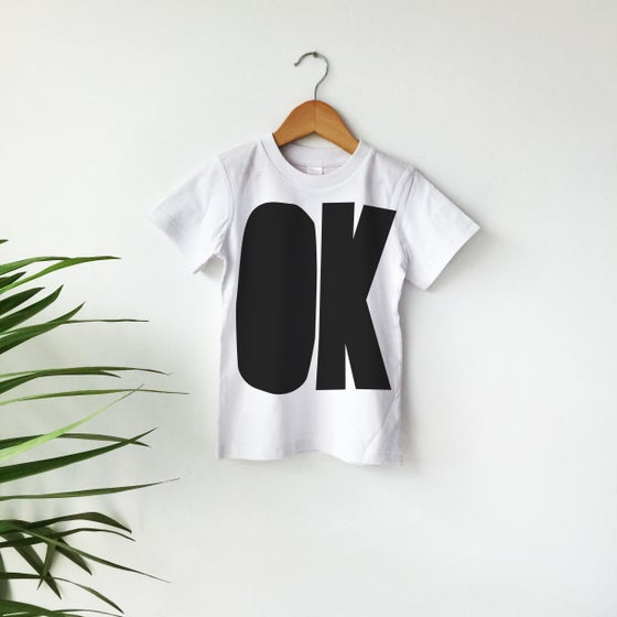 Image of OK T-Shrt - Black on White