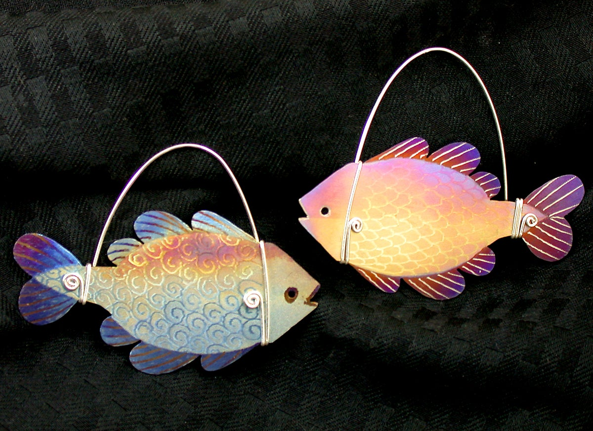 Image of Kit to make Heat-Colored Titanium Fish Pin