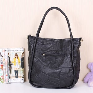 Image of Handmade Splicing Leather Women's Handbag Shoulder Bag Messenger Bag Travel Bag (m39)