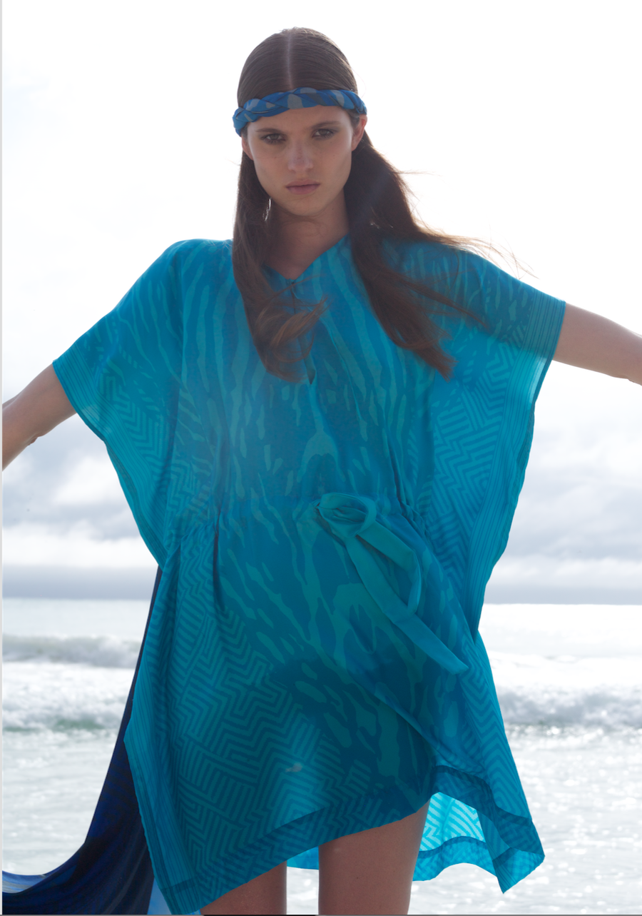 Image of TUNICA in print turquoise