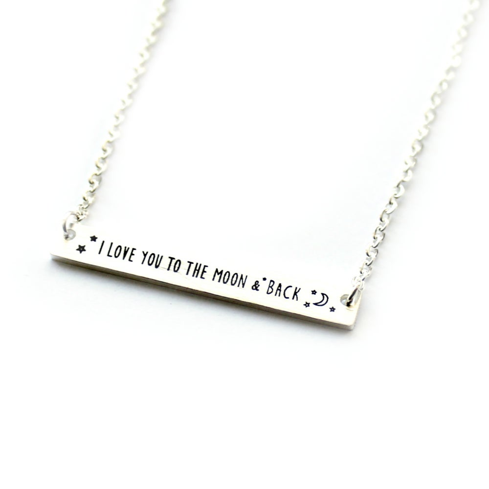 Image of 'I LOVE YOU TO THE MOON AND BACK' TEENY NECKLACE
