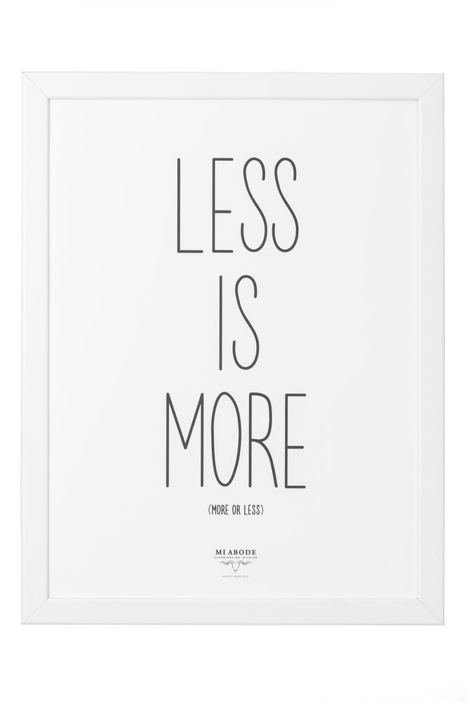 Image of Less Is Bore - Framed Print