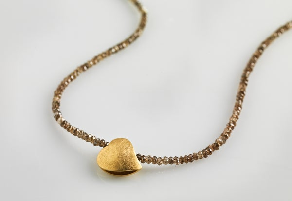 Image of necklace diamonds gold