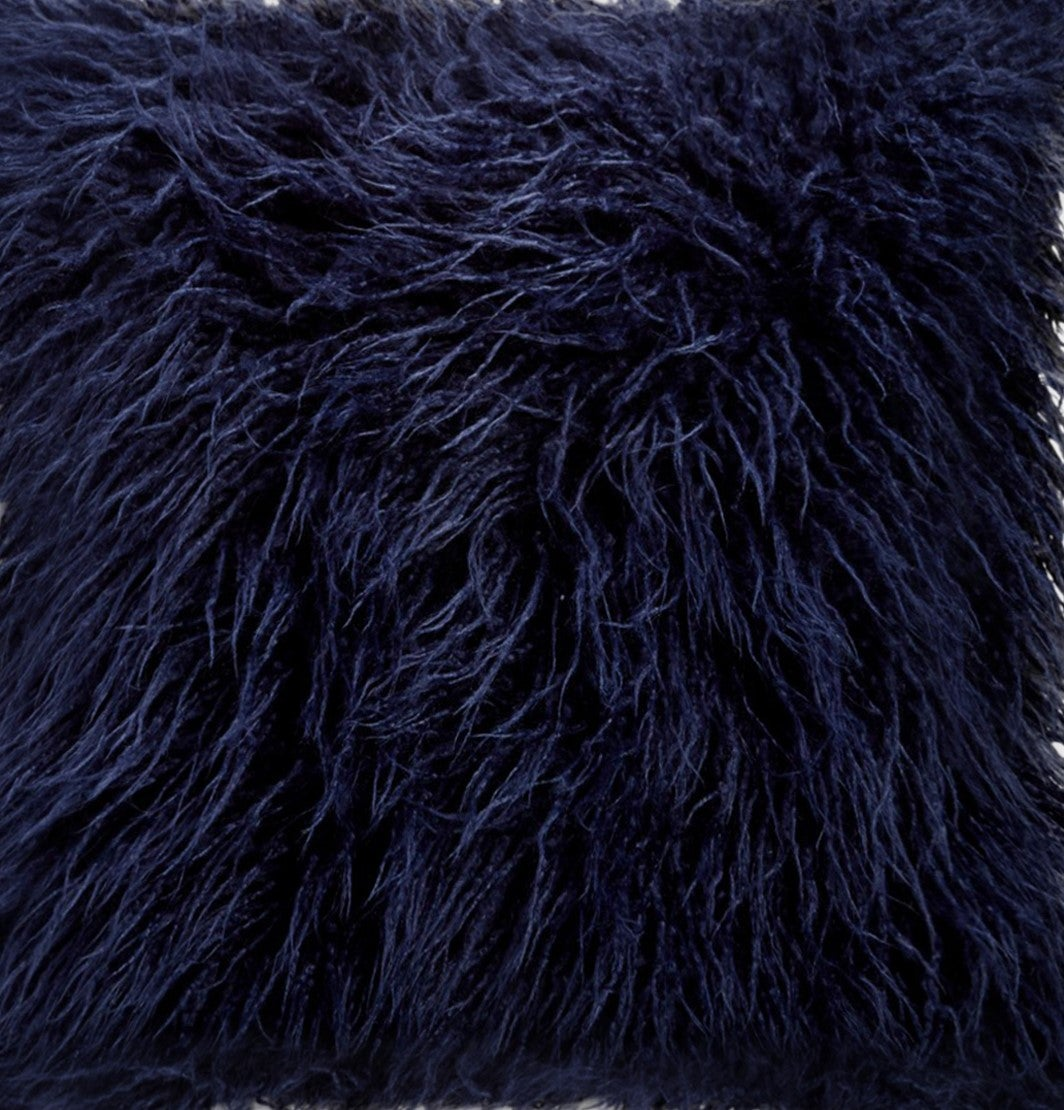 Image of FRISCO MONGOLIAN SHEEPSKIN FAUX FUR PILLOW  INK