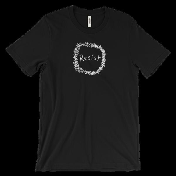 Image of Resist wreath tshirt - Black