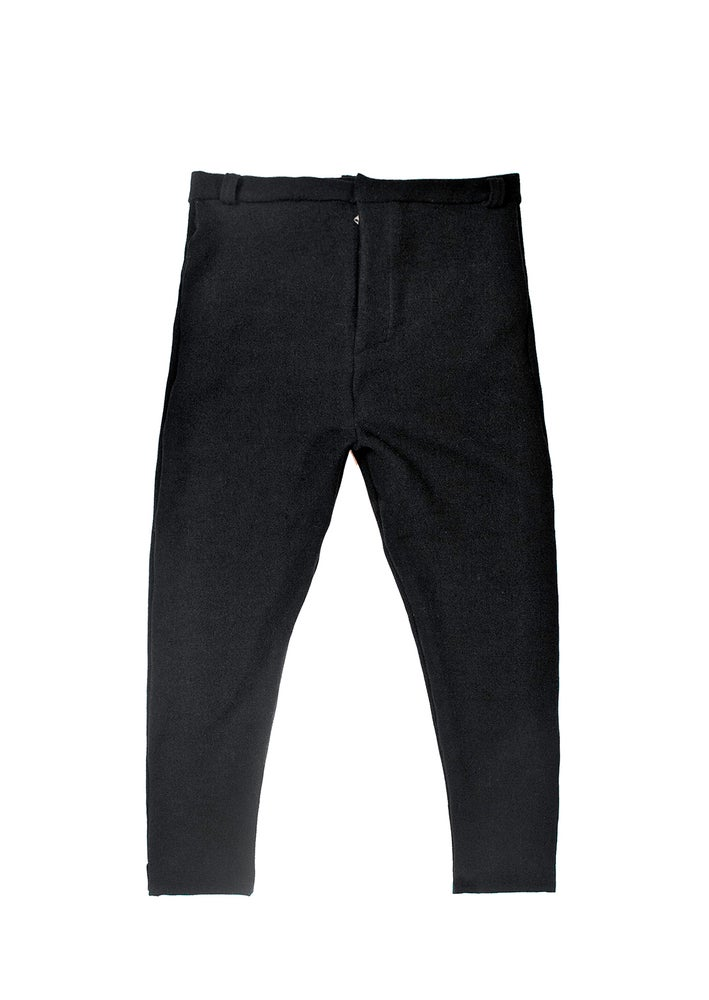 Image of Cropped Wool Trousers