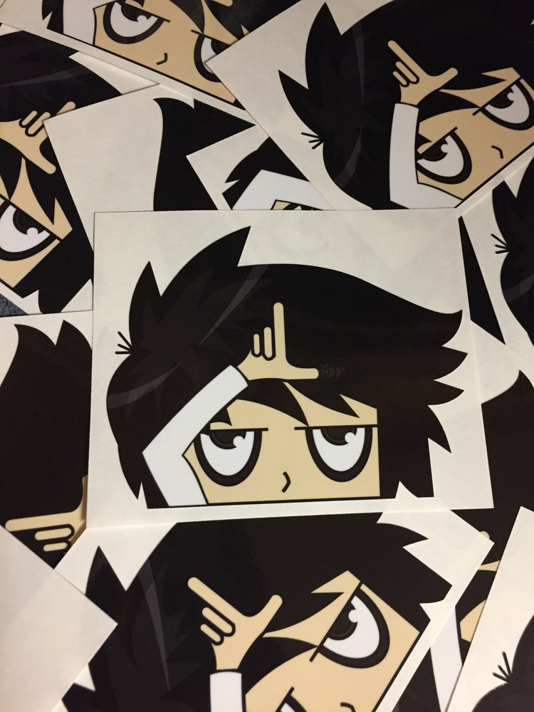 "Image of ""Peeking L"" Die-Cut Vinyl Sticker"