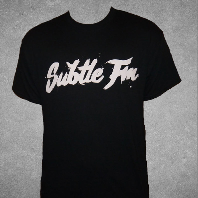 Image of Subtle FM Logo T-Shirt (Black)