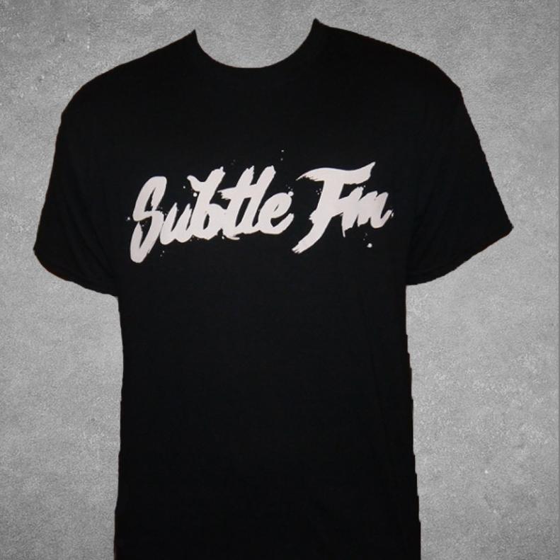 Image of Subtle FM Logo T-Shirt (Black)
