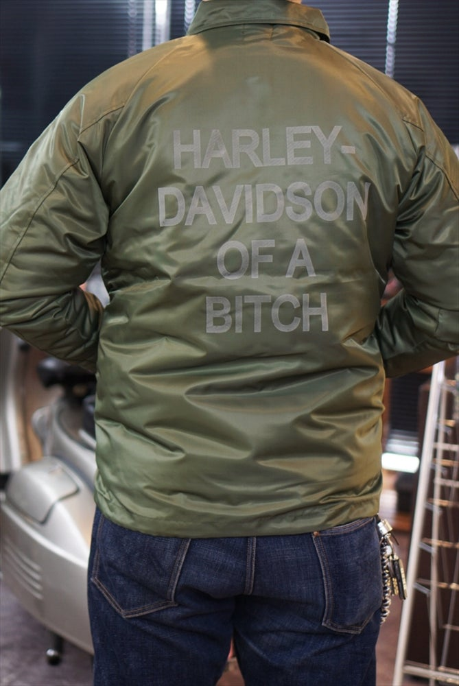 Image of HARLEY DAVIDSON OF A BITCH boa jacket