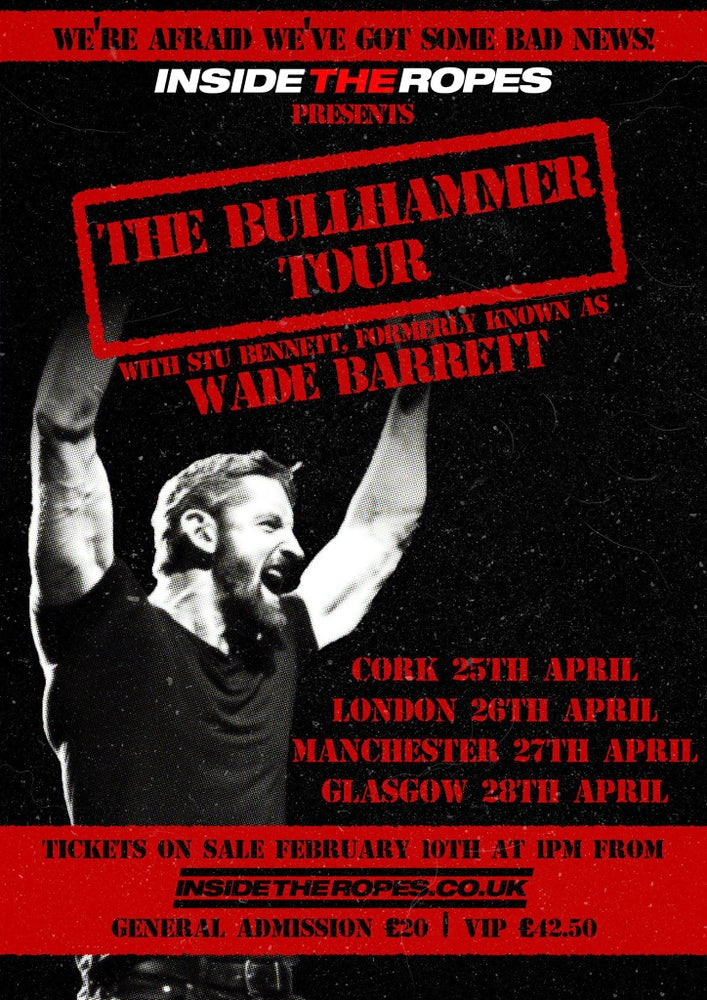 Image of MANCHESTER: The Bullhammer Tour with Stu Bennett (FKA WADE BARRETT)